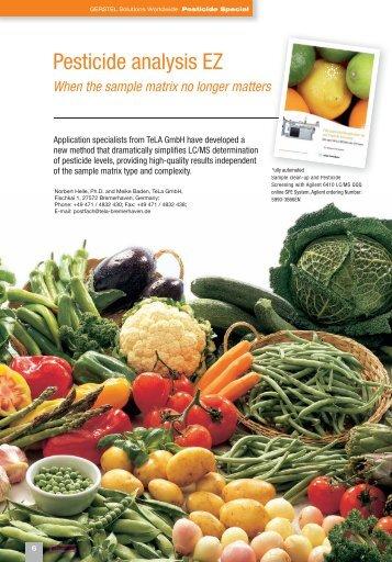 Pesticide analysis EZ - When the sample matrix no longer ... - Gerstel
