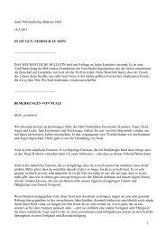 GmG Wöchentliches Bulletin #415 - MATERIALIEN zu