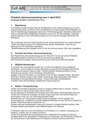 Protokoll Jahresversammlung vom 3. April 2012 - gdi