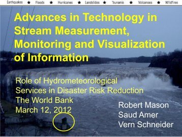 Advances in Technology in Stream Measurement ... - GFDRR