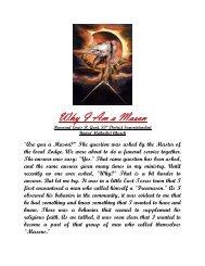Why I Am a Mason - Grand Lodge Bet-El