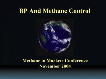 BP and Methane Control - Global Methane Initiative
