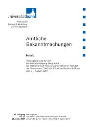 Prüfungsordnung für den Bachelorstudiengang Geographie vom 31 ...
