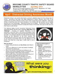 April/May 2013 Issue - Distracted Driving ... - Broome County