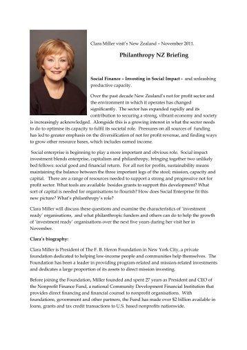 Clara Miller 2011.pdf - Philanthropy New Zealand