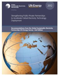 May 2012 PDF - 60 pages - Global Sustainable Electricity Partnership