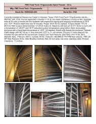 fmc food tech / frigoscandia spiral freezer - food processing
