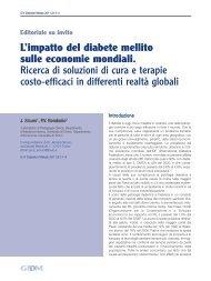 L'impatto del diabete mellito sulle economie mondiali. Ricerca di ...