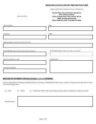 Visitor Preparation Form (PDF) - Gemini Observatory