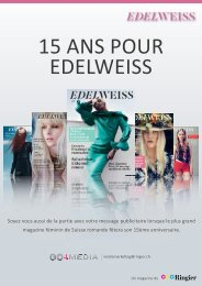 Download PDF Factsheet Edelweiss 15 ans - Go4media.ch