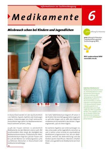 Fachinfo Medikamente - ginko Stiftung für Prävention
