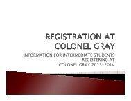 Grade 10 Registration Slide Show - Department of Education and ...