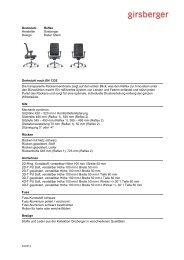 Ausschreibungstext Drehstuhl (pdf) - Girsberger