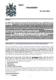 PBVV FINANZBRIEF - GoldSeiten.de