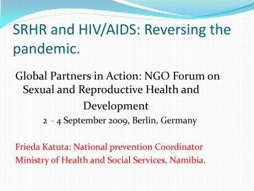 Workshop 23 - Frieda Katuta - Global Partners in Action