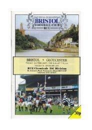 Bristol v. Gloucester - Gloucester Rugby Heritage