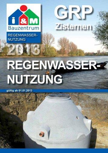 Regenwassernutzung - Gerhardt Bauzentrum