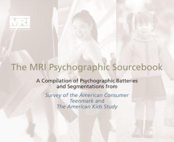 PART 1: Survey of the American Consumer - GfK MRI
