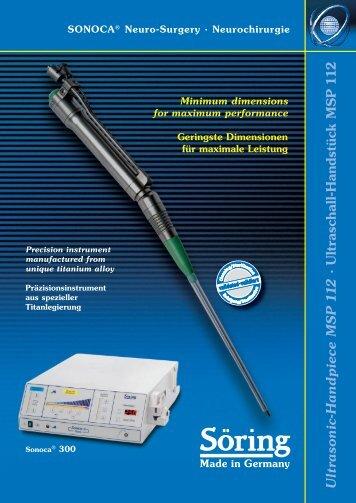 Ultraschall-Handstück MSP 1 1 2