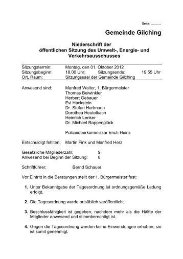 1. Oktober 2012 - Gemeinde Gilching
