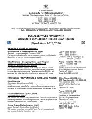 Social Services Funded with Community ... - City of Glendale