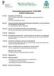 Veranstaltungsprogramm 15.06.2004 Kalkar ... - bei der GKB eV
