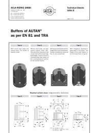 Buffers of AUTAN® as per EN 81 and TRA - G.m.v.