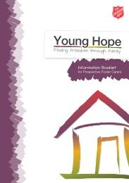 Foster Care Info booklet - The Salvation Army