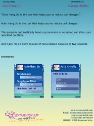 Auto Hang Up ZGroup Mobile - Get Mobile game