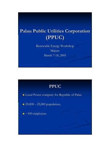Palau Public Utilities Corporation