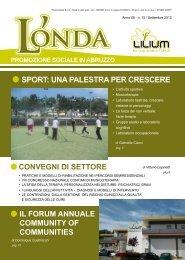 L'Onda n.15 - Coop LILIUM, sport: una palestra per crescere