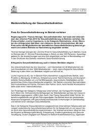 Medienmitteilung - pdf - Institut für Sozial- und Präventivmedizin der ...