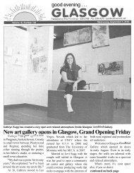 New art gallery opens in Glasgow, Grand ... - Glasgow Montana