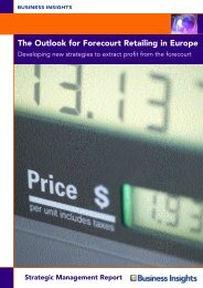 The Outlook for Forecourt Retailing in Europe - Business Insights