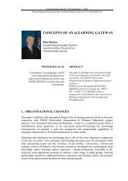 CONCEPTS OF AN eLEARNING GATEWAY - NymE GEO portál