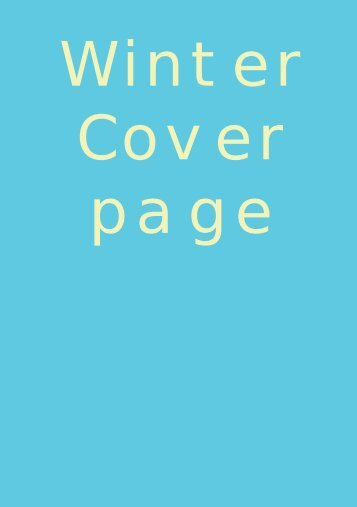 Winter Cover page