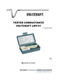 TESTER CONDUCTANŢĂ VOLTCRAFT LWT-01 - German Electronics