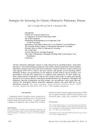 Strategies for Screening for Chronic Obstructive Pulmonary Disease