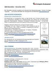 Newsletter 11/2012 - Geologische Bundesanstalt