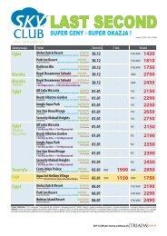 LAST SECOND - 7 dni od 1150 PLN - LC35.cdr - Gejsza Travel