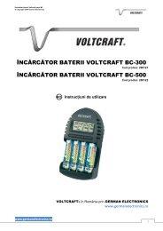 încărcător baterii voltcraft bc-300 încărcător baterii voltcraft bc-500