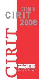 Premis CIRIT 2008 - Generalitat de Catalunya