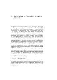 3. Über die Subjekt- und Objektrelation im modernen Chinesisch