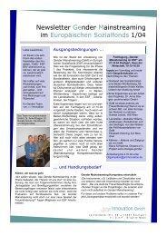NL 1 endg.pub - Gleichstellung der Geschlechter im ESF in BW