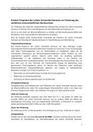 Postdoc-Programm der Leibniz Universität Hannover zur Förderung ...