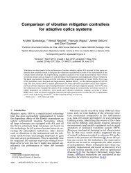 Comparison of vibration mitigation controllers for adaptive optics ...