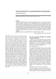 Electrical Stimulation: Neurophysiological Basis and Application