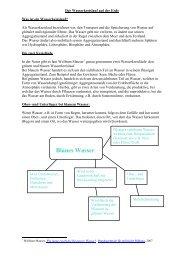 Der Wasserkreislauf auf der Erde - Gesamtschule Holsterhausen