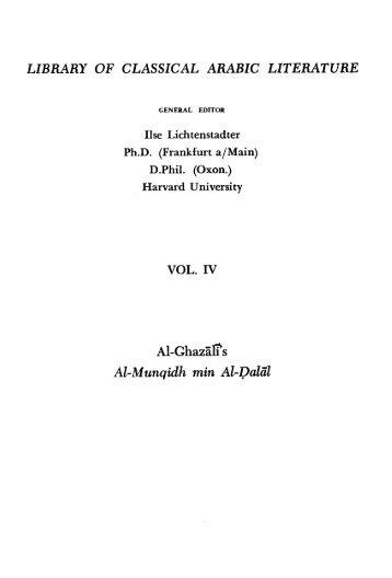 Freedom and Fulfillment - al-Ghazali's Website