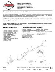 Bill of Materials: Recommended Tools: - APR